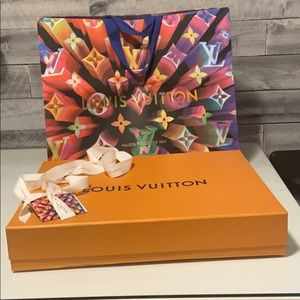 Louis Vuitton neverfull empty gift box and bag